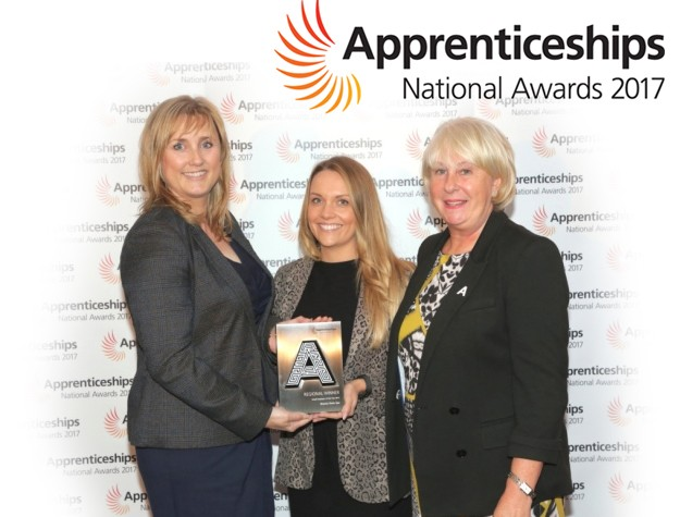 Number One Small Business in the country for The National Apprenticeship Awards